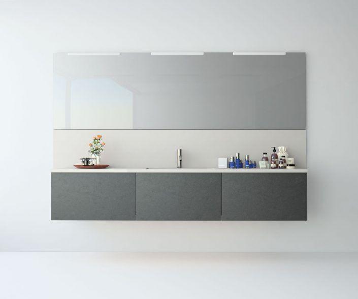 Muebles de baño a medida. Ejemplo de acabados en madera natural, laminados, lacas brillo o mate, etc.  unibaño-compactos-acabados-16