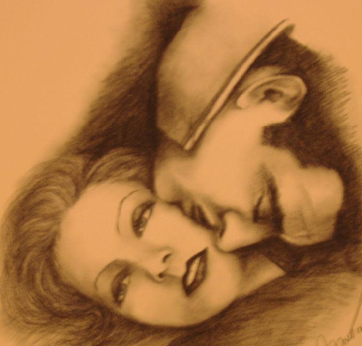 (per Sedicicorto International Film Festival, carboncino su carta colorata, 2005 - Daniela Montanari)