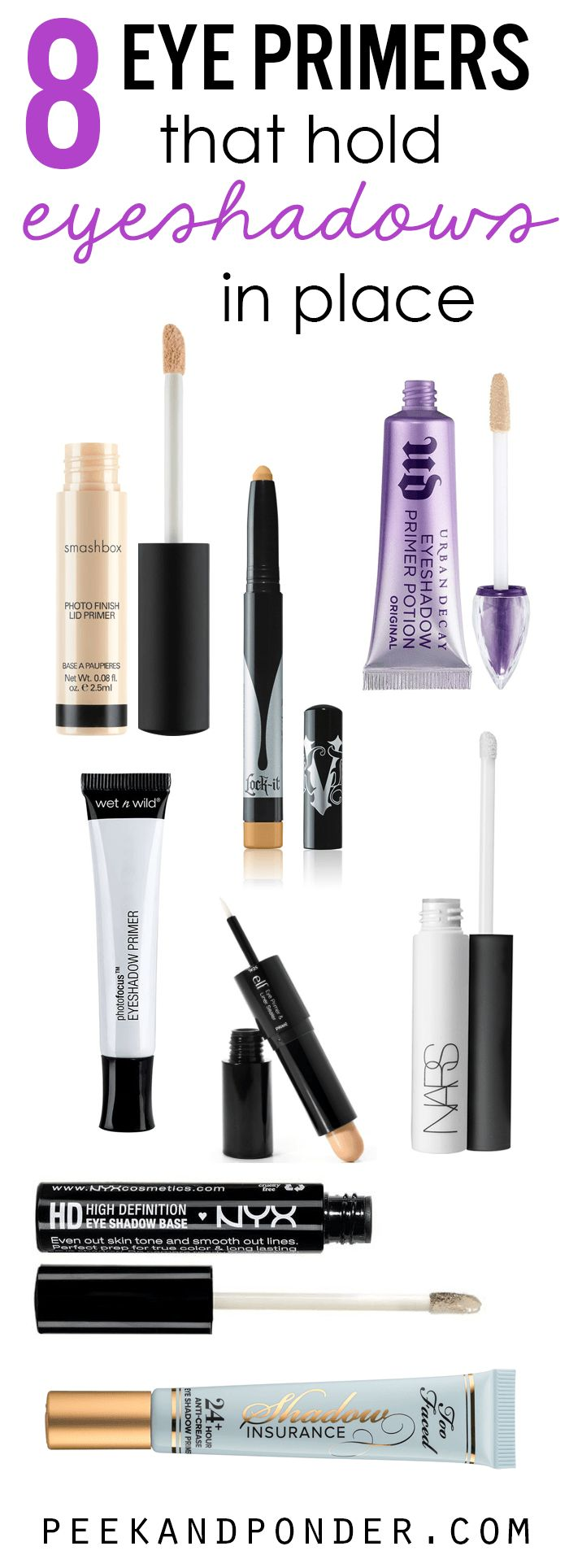 The 8 best eye primers that hold eyeshadows in place along with a free printable list!