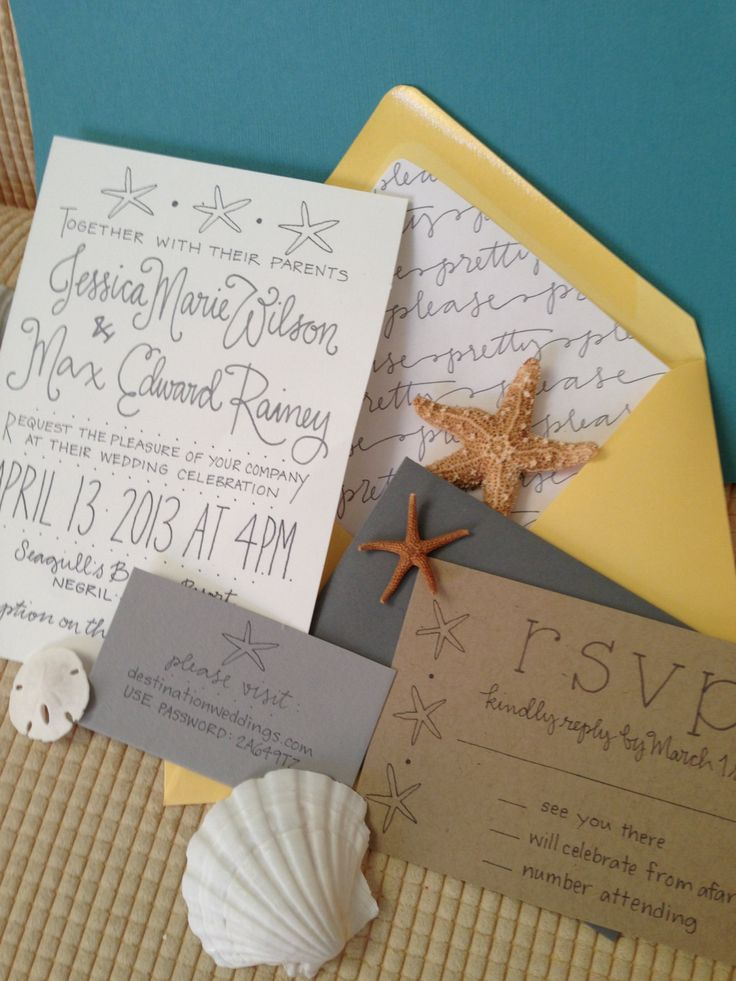 beach wedding invitation examples%0A Beach Shore Destination Wedding Invitation Suite by GreySnailPress