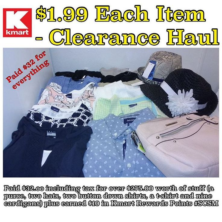 Kmart clearance haul