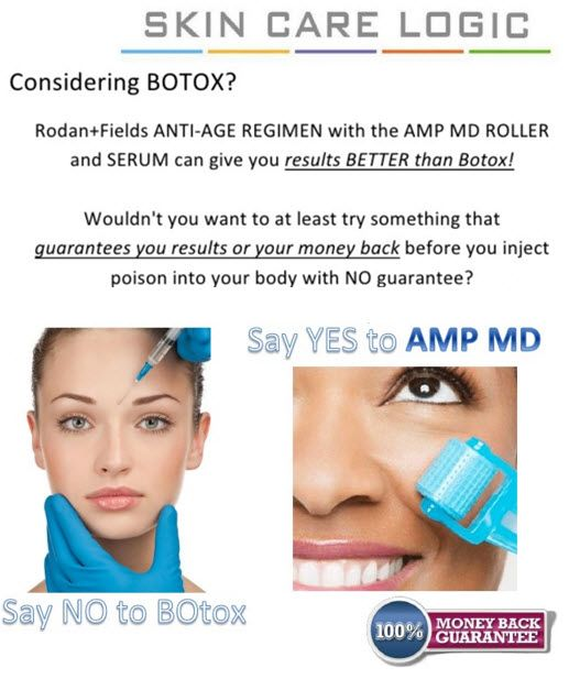 "Skip Botox! Use the AMP MD Roller to ""roll back time"". Pair it with Redefine for the best anti-aging combination!!"