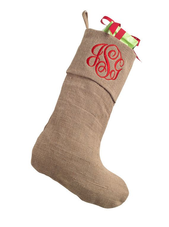 Personalized Monogrammed Christmas Stocking by PaisleyBelleGrace