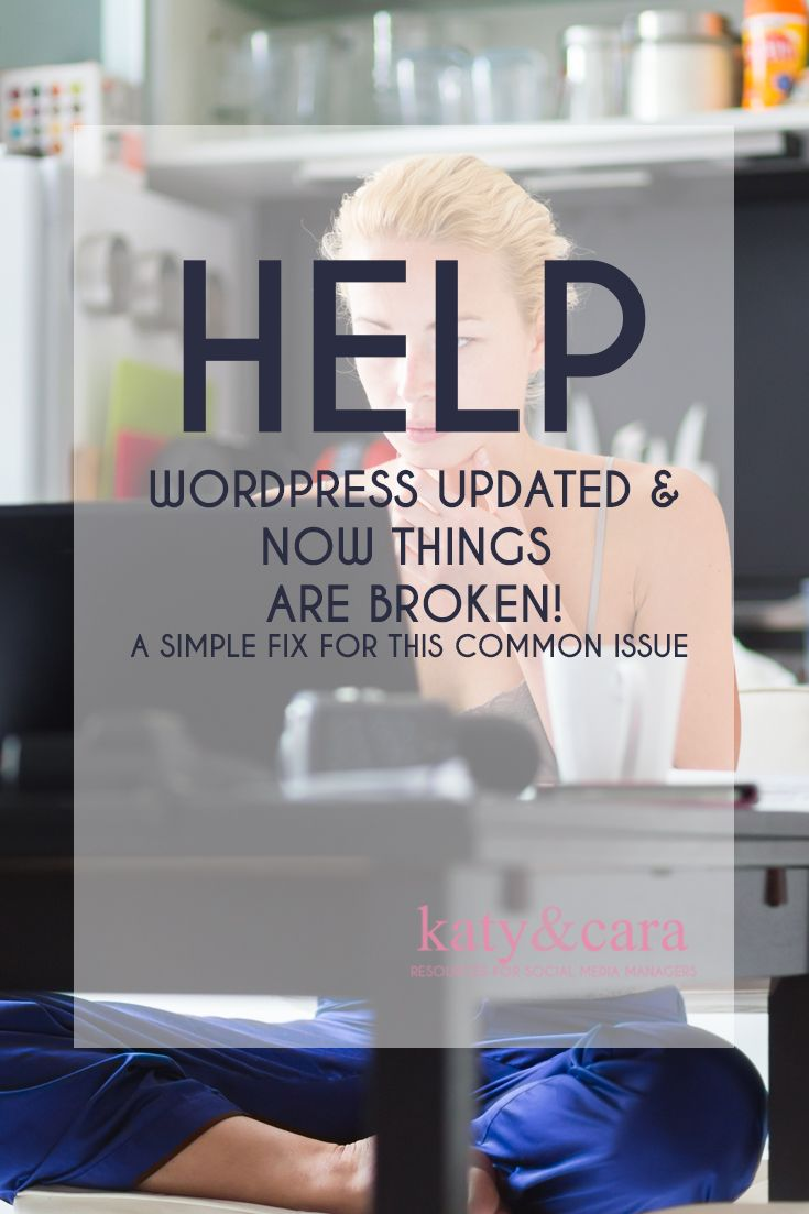HOW TO FIX A COMMON ISSUE THAT BREAKS YOUR SITE WHEN WORDPRESS UPDATES