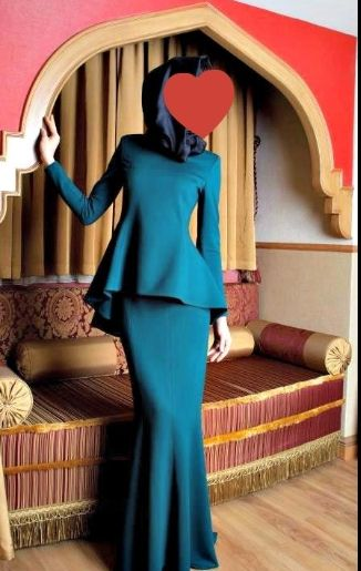 Peplum Tesettür Elbise Modelleri 2014