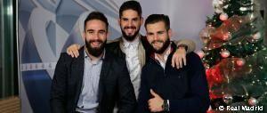 Carvajal, Isco y Nacho felicitan la Navidad