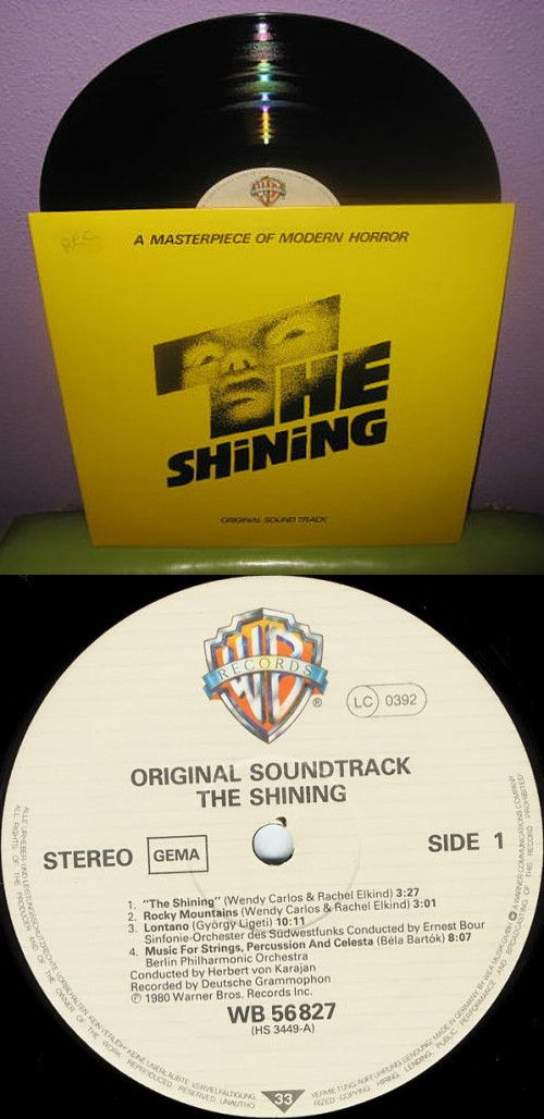 Rare Vinyl Record The Shining Original Soundtrack LP 1980. From JustCoolRecords on Etsy https://www.etsy.com/listing/67368951/rare-vinyl-record-the-shining-original