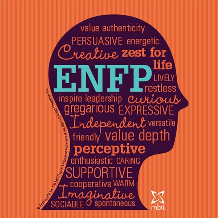 Fascinating! I took a personality test today and found out I'm ENFP. Which type are you? Is it accurate? Take the free test here: http://www.16personalities.com/free-personality-test