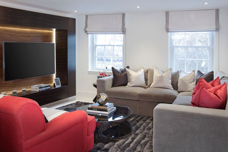 Luxury Living Room Interior with Bespoke Media Unit | JHR Interiors
