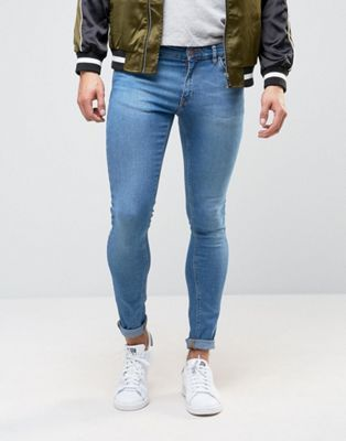 06b1e24ed24a Image 1 of ASOS DESIGN extreme super skinny  jeans in mid blue