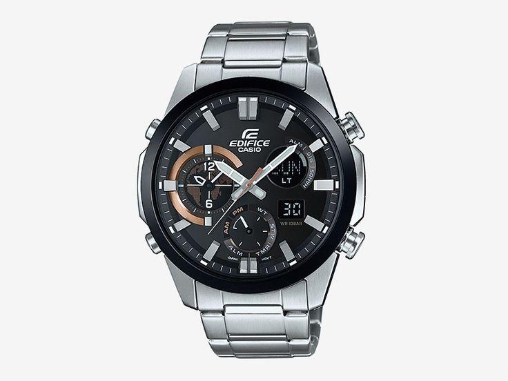 Casio Edifice ERA-500DB-1A — pánské hodinky, náramkové, analogové, digitální, luxusní, ocelový náramek, ocelové pouzdro