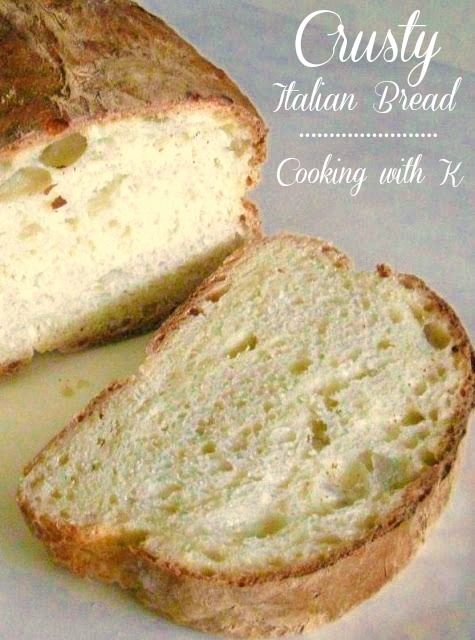 Crusty Italian Bread {C-r-a-z-y easy to make} by Cooking with K | Kay Little