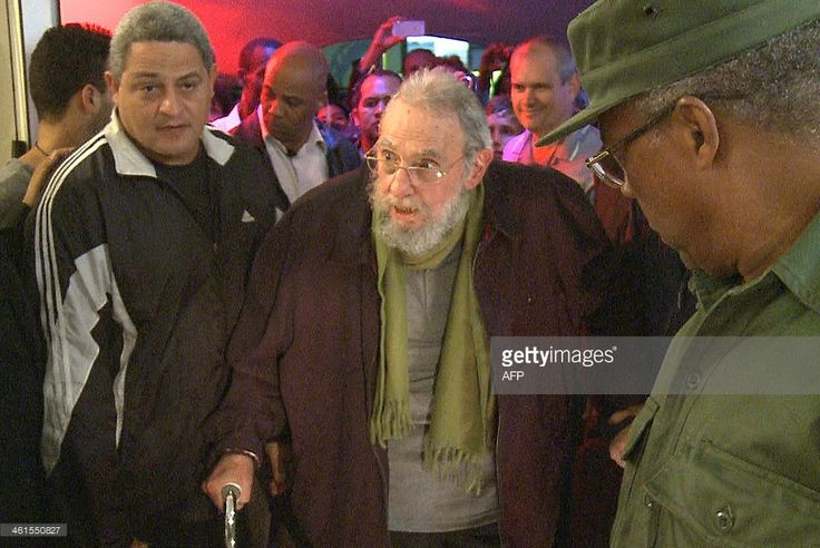 Still grab from a video taken on January 8, 2014 of former Cuban president Fidel Castro attending the inauguration of the nonprofit cultural centre Kcho Romerillo, Laboratory for Art in Havana. Cuban leader Fidel Castro has appeared in public for the first time in nine months, attending an art gallery opening near his home, the local press reported Thursday. The Cuban leader, who relinquished the presidency to his brother Raul in 2006 due to illness, last appeared in public in April when he…