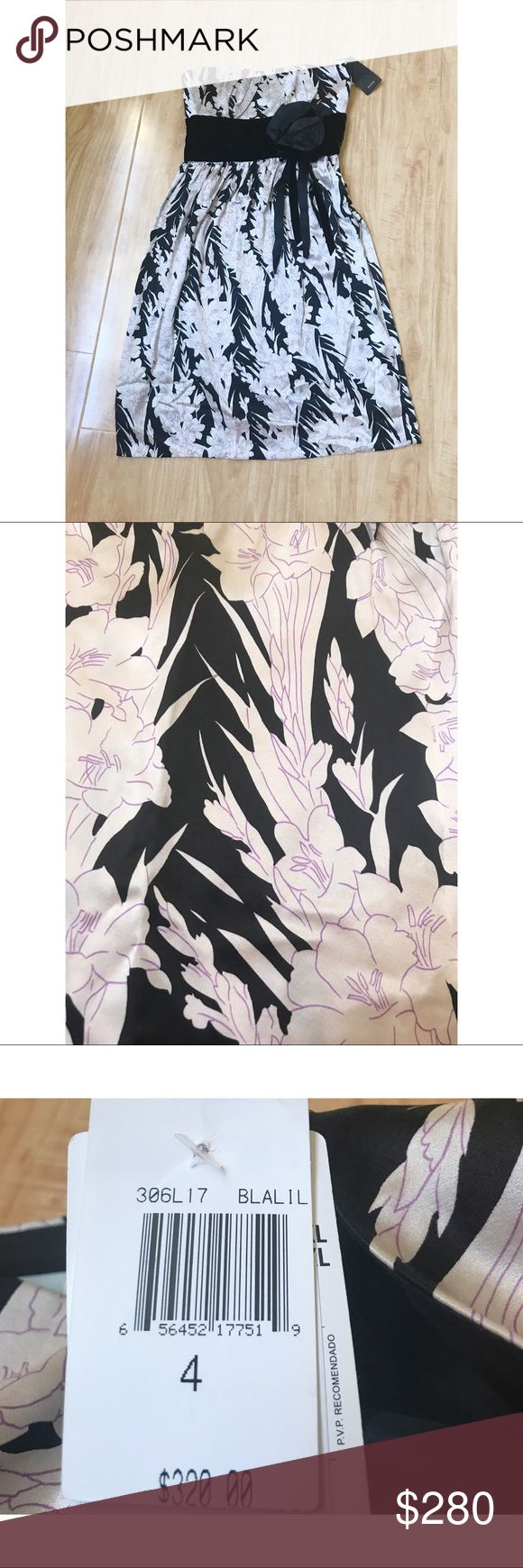 Tracy Reese Korean Silk Floral Black Detail Dress Size: 4. Please ask me further questions in the comments, I will be happy to answer! Tracy Reese Dresses