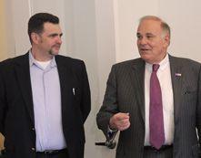 Michael Zammuto and Pennsylvania Governor Ed Rendell