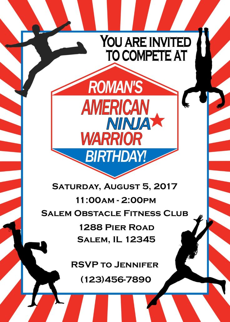 33 Best American Ninja Warrior Party Ideas Images On