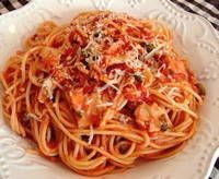 I'll be honest, I've never tried this before, but I'll be looking up January 2012's newsletter for this Linguini with Red Clam Sauce recipe so I can!