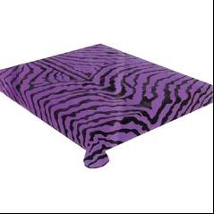 ELTO Zebra Skin Black Purple 385 Korean Mink Queen Blanket