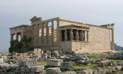Erecteion. Acrópolis de Atenas. Arte griego.