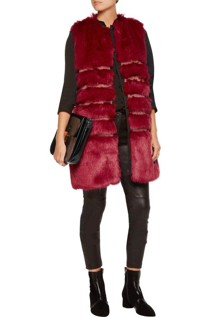 Chicloth Imitation Fox Fur Luxury Long Vest Top