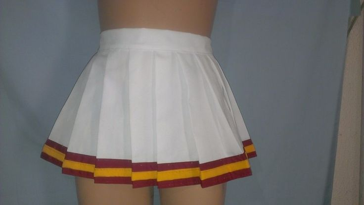 USC White Skirt Cheerleader Halloween Uniform CosPlay Football Game Costume #Handmade #Uniform #cheer
