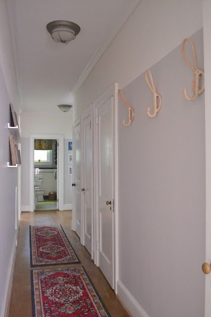 Hallway Makeover Sherwin Williams Alpaca Modern