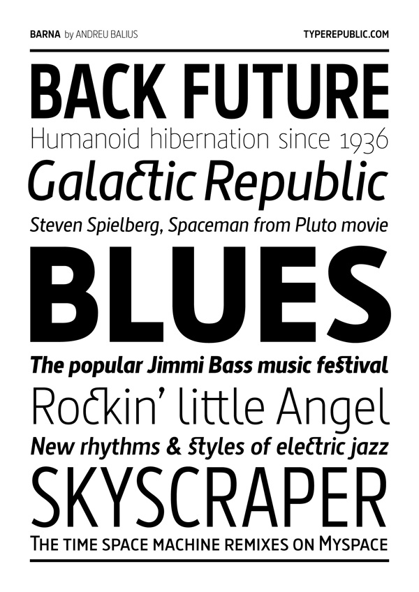 Barna typeface by Andreu Balius, via Behance