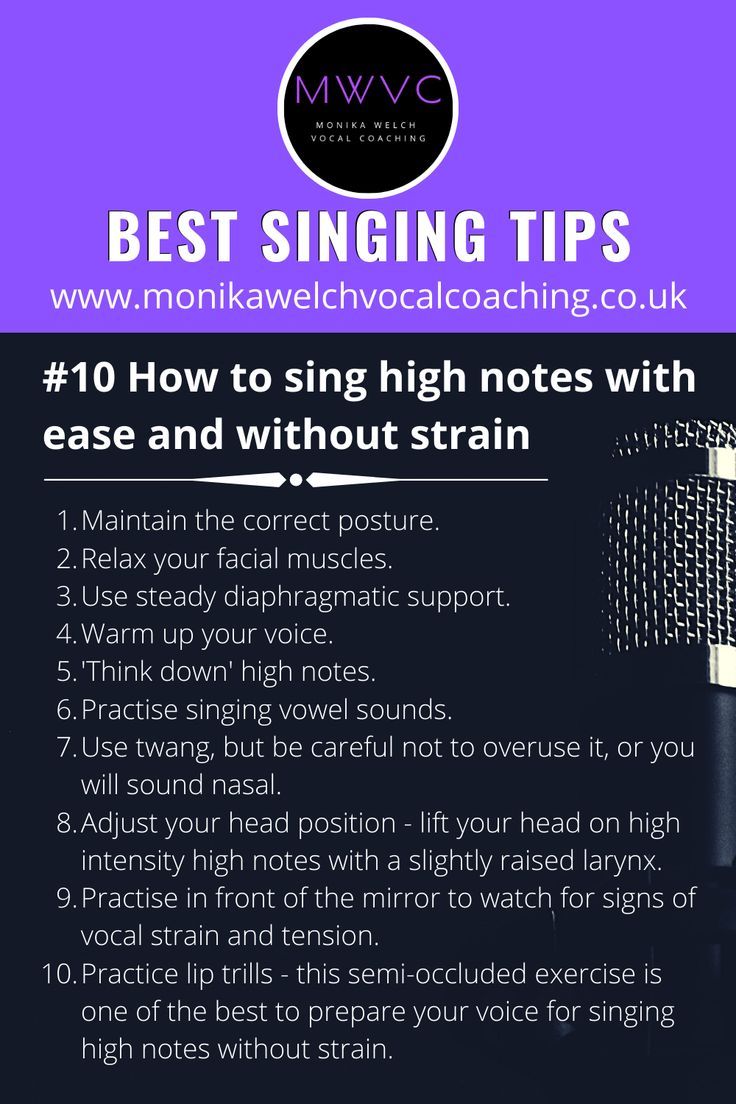 How to sing high notes without strain best singing tips