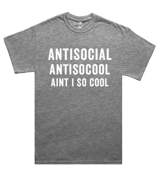 antisocial antisocool aint i so cool t shirt – Shirtoopia