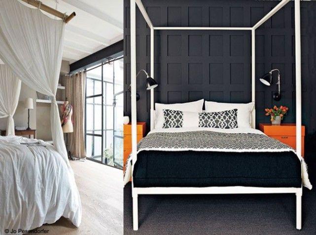 chambre baldaquin finest cool chambre blanche avec lit baldaquin dans un style minimaliste. Black Bedroom Furniture Sets. Home Design Ideas