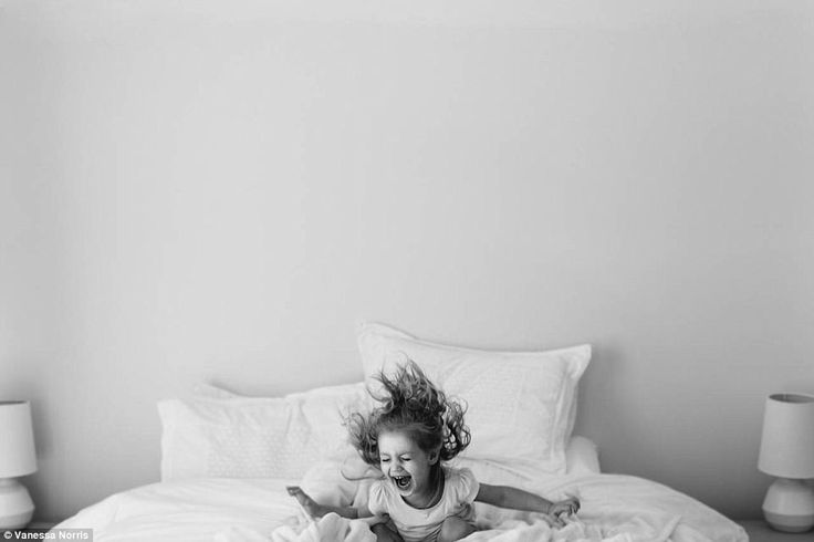 Melbourne-based photographer Vanessa Norris captured this photo of a little girl jumping o...