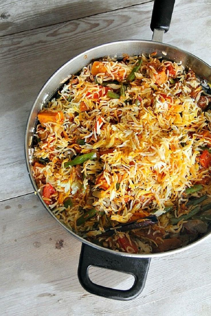 Vegan Vegetable Biryani--this link leads to a bunch of delicious recipes!