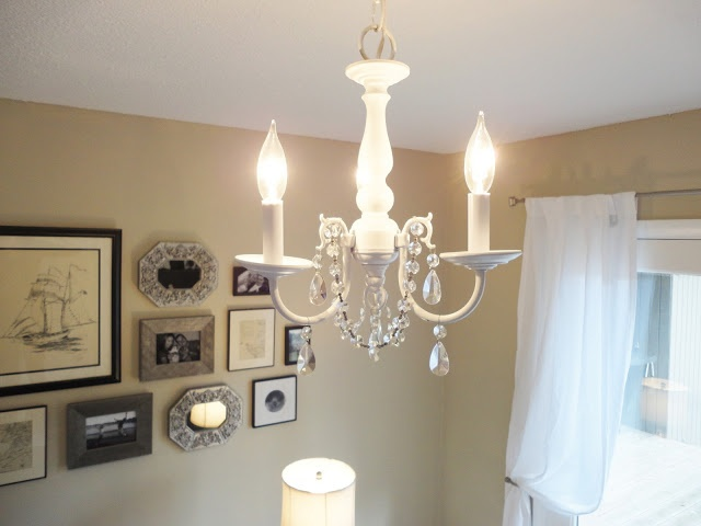 36 best painted chandelier ideas paints images on pinterest how to update brass chandeliers with spray paint crystals aloadofball Gallery