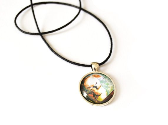 Koala necklace with round pendant in glass by FunkyFancyAnimals, €7.00
