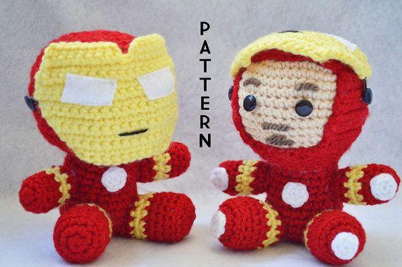 Iron man Crochet Pattern  Instant PDF Download by BunniesandYarn