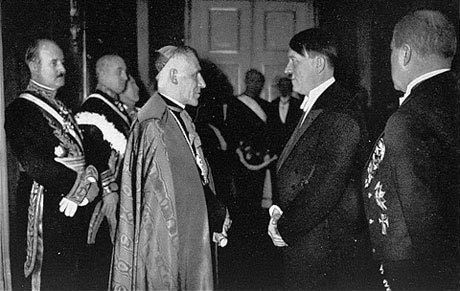 Pope Pio XII meets with Hitler.