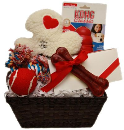 Valentine's Day Homemade Gift Baskets | Ultimate Valentine's Day Dog Gift Basket | DoggieDeliveries.com