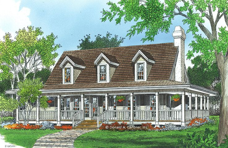 Home Plan The Allendale II by Donald A. Gardner Architects