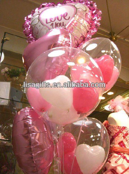 12 polegada dia nuvens impresso balão de látex transparente para embalagem de presentes