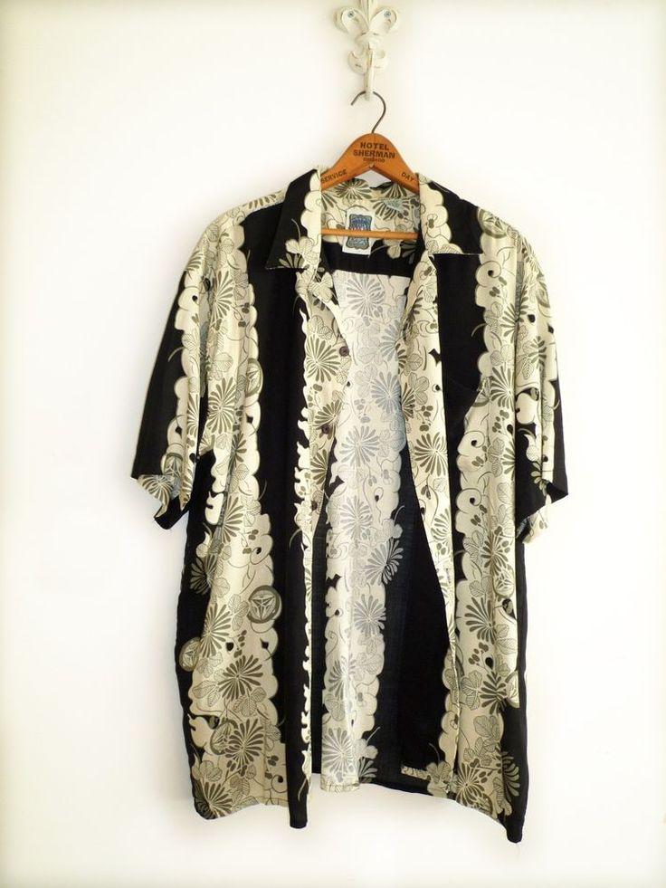 """Men's Vintage Hawaiian Shirt - LARGE By """"OCEAN CURRENT"""" Special Brand #OCEANCURRENT #HAWAIIAN #aloha #hawaiianShirt #"""