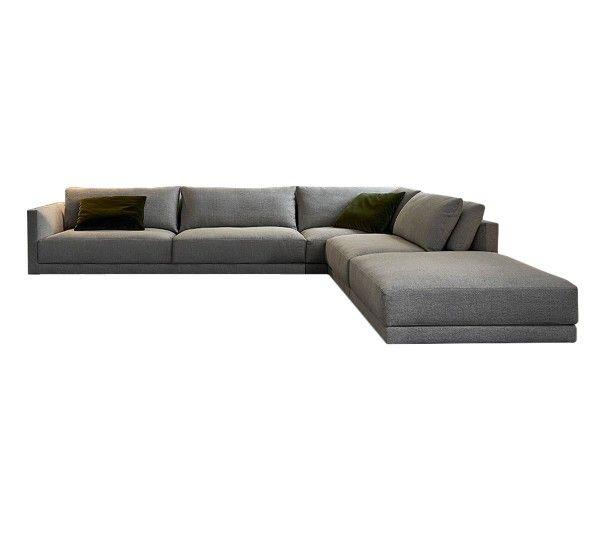 Bristol è un divano componibile di Jean Marie Massaud per Poliform.Disponibile in varie combinazioni, è la soluzione ideale per ogni esigenza in living. Bristol è un divano dalle forme morbide e avvolgenti, grazie alla doppia cuscinatura, assicura un estremo comfort. Le geometrie si incastrano con un gioco di morbide convessità e volumi diversi.Sensazioni di relax e abbandono per un divano eccellente. La struttura del divano è in poliuretano flessibile stampato come i cuscini della…