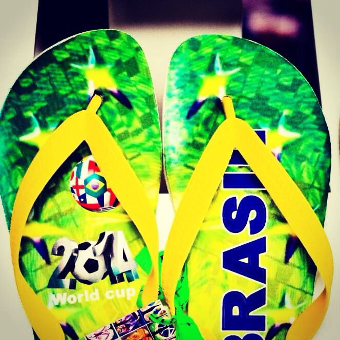 World Cup Slippers. Brazil by Vieira Slippers.