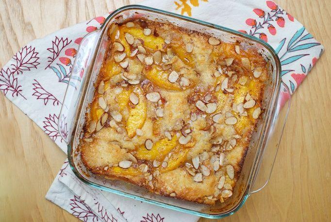Nectarine Brown Butter Cobbler & Cake | Shall we bake? | Pinterest