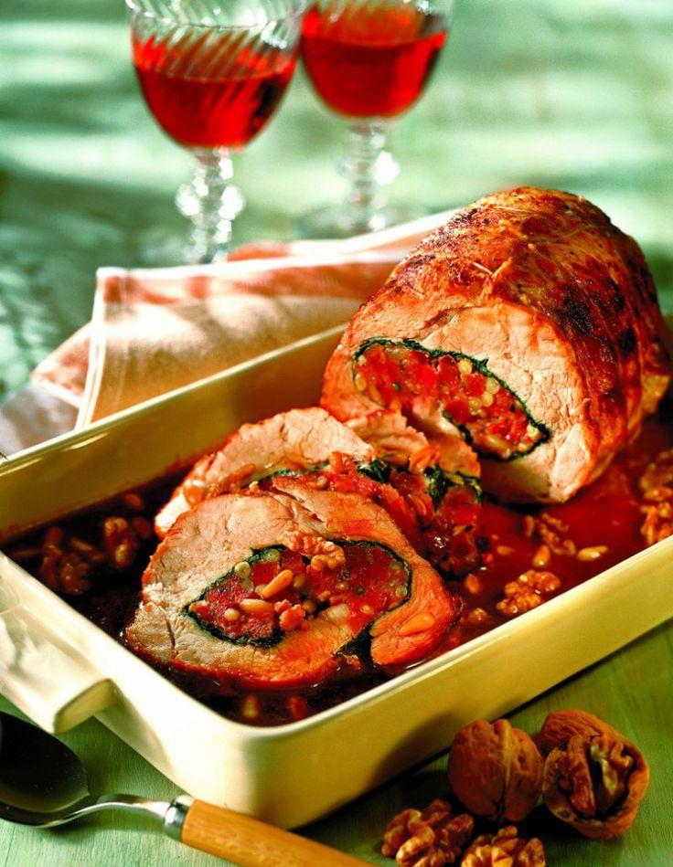 Ruladă de porc cu mere şi nuci | Retete culinare - Romanesti si din Bucataria internationala