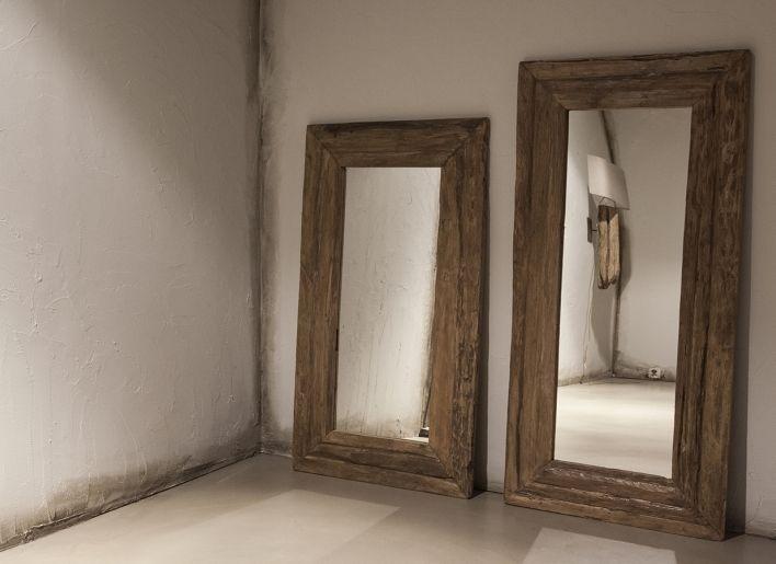 Originele oude houten spiegel large | Woonland