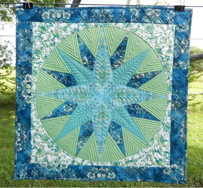 We couldn't resist sharing this Mariner's Compass quilt Cindy finished last summer. Perfect!