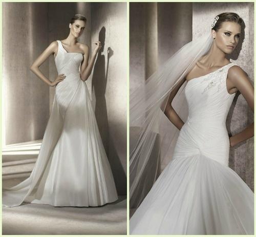 Vestidos de Noiva 2012 – as 8 principais tendências para você se inspirar! Assimétricos.