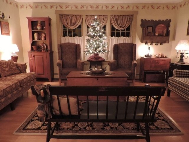 78 best images about colonial living rooms on pinterest primitive living room fireplaces and. Black Bedroom Furniture Sets. Home Design Ideas