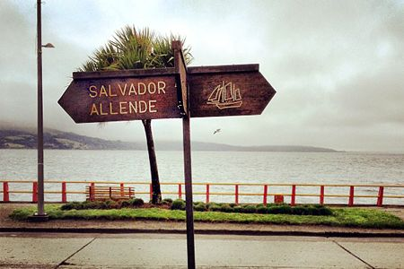 avenida Salvador Allende en Ancud, Chiloé
