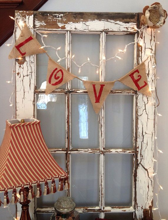 Love Valentines Day Wedding Burlap Banner By Lizziejeans On Etsy 1500
